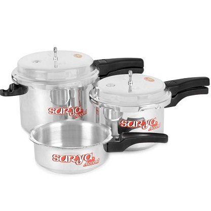 Best-deal-on-Surya-Accent-Super-Saver-combo-pack-5-L-3-L-2-L-Pressure-Cooker-Aluminium.-Shoppingmantras.com-sharing-best-offer-for-you.