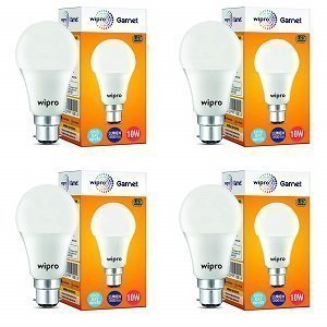 ShoppingMantraS.com sharing Best Offer on Wipro Garnet Base B22 10-Watt LED Bulb (Pack of 4, Cool Day White). checkout now and buy at best price in India.