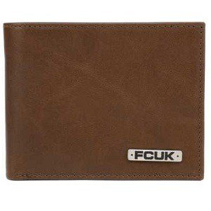 FCUK - French Connection Mens Tan Genuine Leather Wallet from Rs.509