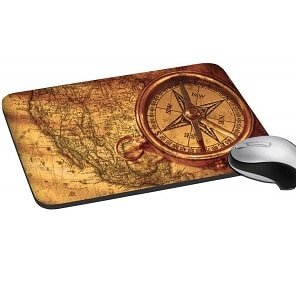 PAPER PLANE DESIGN Khirki Anti Skid Mouse Pads for Desktop and Laptop