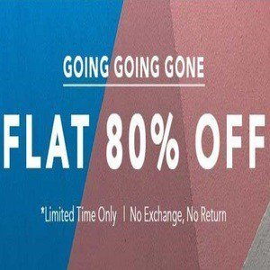 KOOVS - Going Going Gone - Flat 80% off on clothing starts at Rs.99