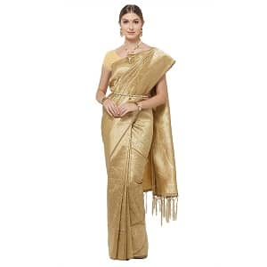 Discount on IDIKA Women's Banarasi Art Silk Saree With Blouse Piece - gold - at Best Price.jpg