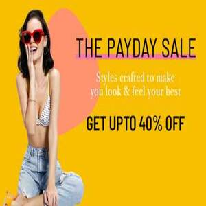 Zivame payday Sale Up to 40% Off - Limited Time offer