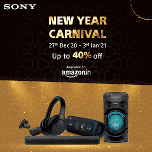 Sony New Year Carnival - Up to 40% Off - Limited time offer