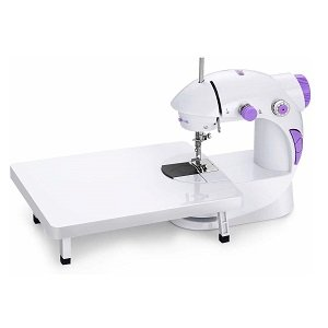 HNESS Multi Electric Mini 4 in 1 Desktop Functional Household Sewing Machine (Sewing Machine with Stand)