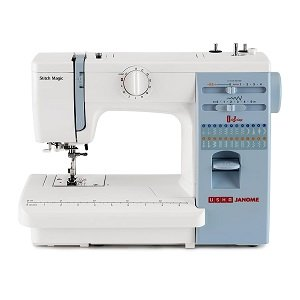 Usha Janome Automatic Stitch Magic 60-Watt Sewing Machine (White And Blue)