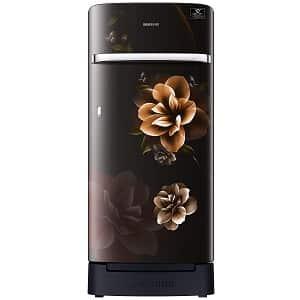 Samsung 198 L 5 Star Inverter Direct-Cool Single Door Refrigerator (RR21T2H2WCBHL, Camellia Black, Base Stand with Drawer)