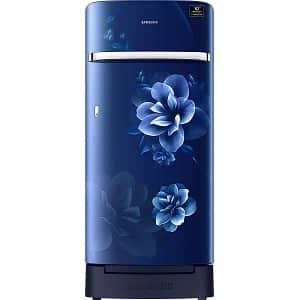 Samsung 198 L 5 Star Inverter Direct Cool Single Door Refrigerator (RR21T2H2WCUHL, Camellia Blue, Base Stand with Drawer)